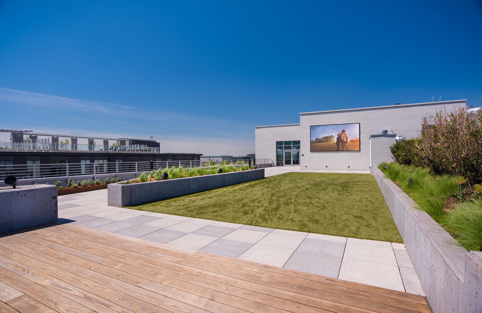 We treat dogs as residents and they will go crazy over our rooftop dog park.