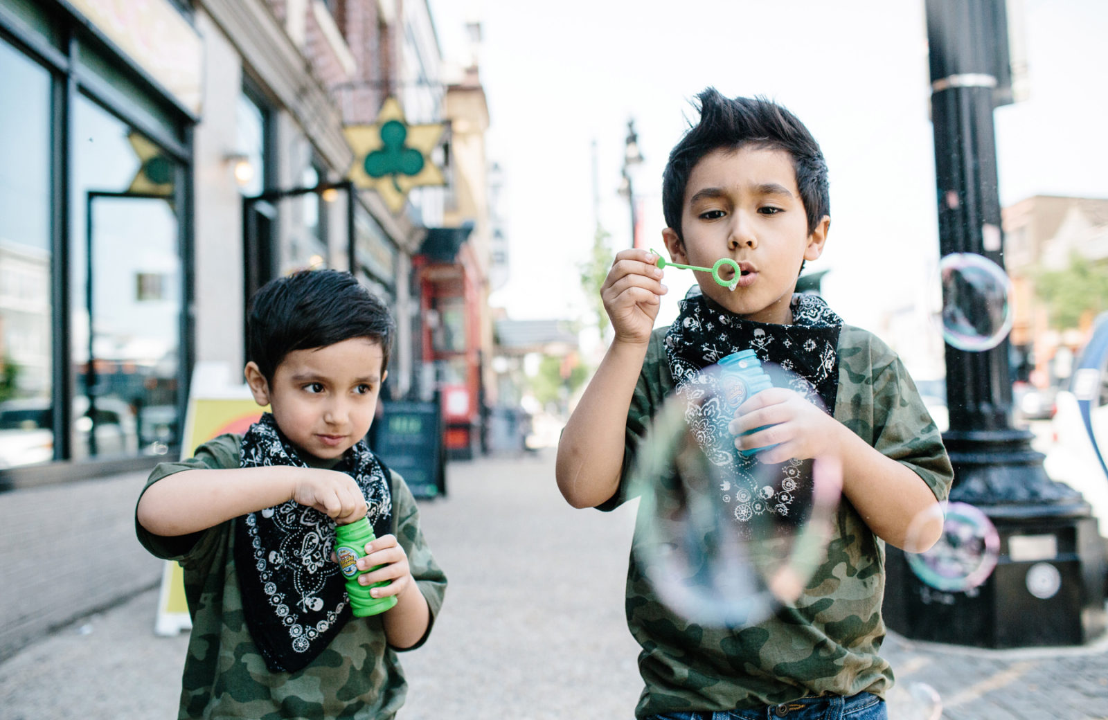 Apollo Social H Street Kids Blowing Bubbles