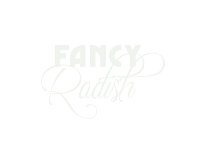 Fancy Radish restaurant logo on forest green background